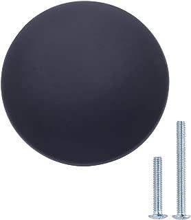 "AmazonBasics Round Cabinet Knob, 1.57"" Diameter, Flat Black, 10-Pack"