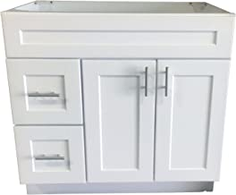 Best bathroom white shaker cabinets Reviews