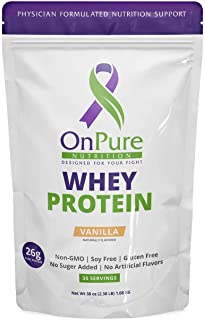 OnPure Whey Vanilla Protein Powder. High Protein. No Sugar Added. Gluten Free, Soy Free, Non-GMO, Keto Friendly, Clean. Bu...