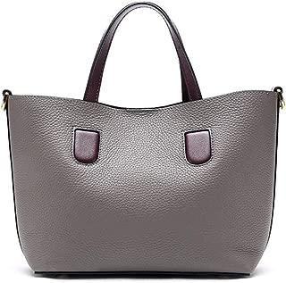 Fashion Simple and Versatile Compact Bills Shoulder Slung Leather Handbags (Color : Gray)