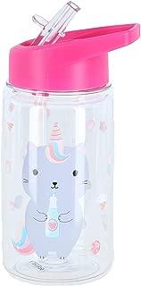 Sass & Belle Caticorn Flip Top Dishwasher Safe Water Bottle, Clear