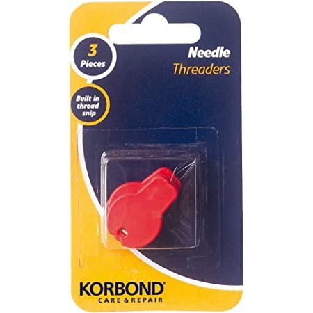 Korbond Three Pack Needle Threaders with Built in Thread Cutter – Ideal for Crafting, Sewing, Quilting, Repairs and Embellishment, Silver