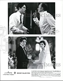 Historic Images - 1999 Press Photo Mickey Blue Eyes-Hugh Grant, James Caan and Jeanne Tripplehorn