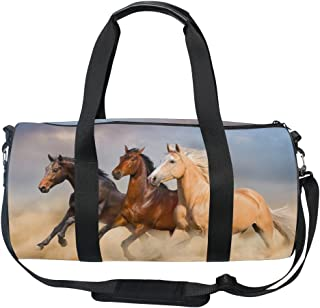 Cooper girl Running Horse Duffels Bag Travel Sport Gym Bag