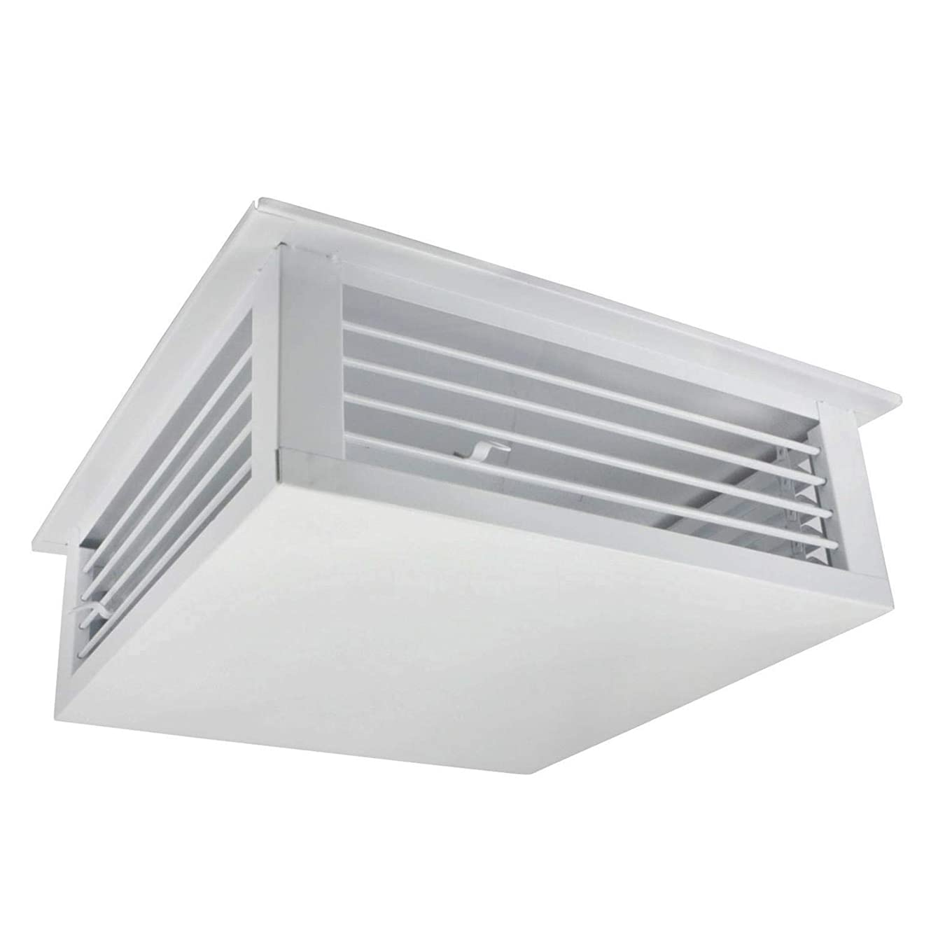 GSW DF-24P 24-Inch White Powder Coated 4-Way Adjustable Metal Diffuser for Evaporative/Swamp Cooler (Renewed)