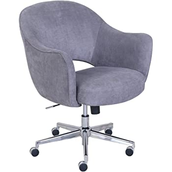 Amazon Com Serta Ashland Ergonomic Home Office Chair With Memory Foam Cushioning Chrome Finished Stainless Steel Base 360 Degree Mobility Gray 47140 Furniture Decor