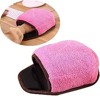 Fullfun USB Heated Mouse Pad Mat Winter Warm Plush Hand Warmer with Wristguard