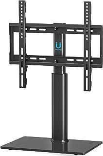 FITUEYES Soporte Giratorio de TV de 32-50 Pulgadas Altura Ajustable Soporte de Mesa para TV LCD LED OLED Plasma Plano Curvo TT104501GB-G