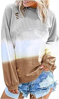 Women's Hoodie Gradient Print Pullover Top Hoodie Long Sleeve Sweatshirt Casual Pullover Tunic Sweater Comfy LIM&Shop