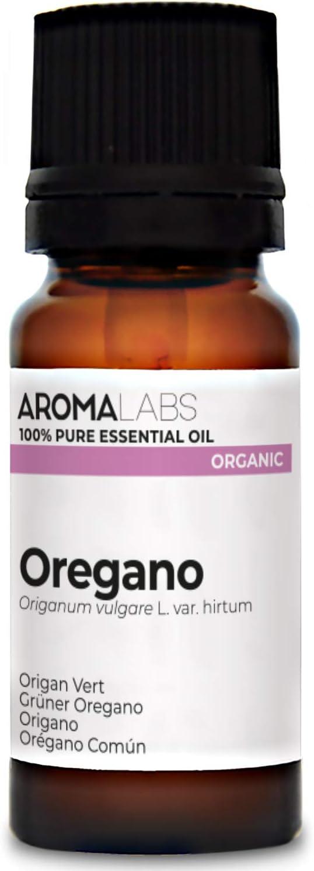 Orégano Común BIO - 10ml - Aceite esencial 100% natural y BIO - calidad verificada por cromatografía - Aroma Labs