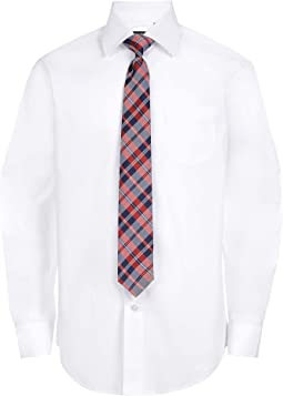 Long Sleeve Dress Shirt With Matching Tie