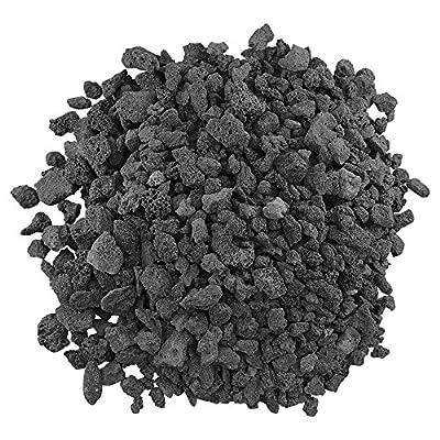 """American Fireglass Medium Black Lava Rock (1/2"""" - 1"""") 10 lb. Bag"""