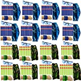 wishery Compatible with Nerf Party Supplies, Nerf Guns N - Strike Elite. 16 Kids - Nerf War Birthday Party Favors for Boys & Girls, Darts, Glasses, Masks,Wrist Bands Pack for 2 Teams.