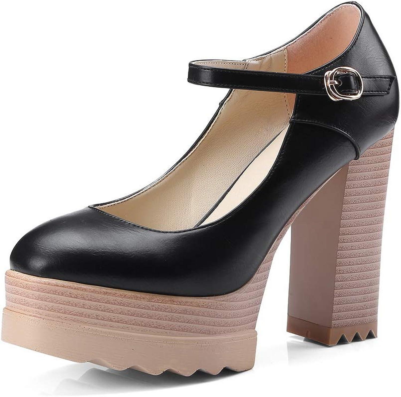 BalaMasa Womens Solid Platform Mule Urethane Pumps shoes APL10838