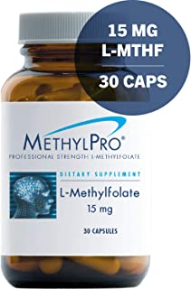 MethylPro 15mg L-Methylfolate 30 Capsules - No Fillers, Professional Strength 15000mcg Active Folate, 5-MTHF for Mood, Homocysteine Methylation + Immune Support, Non-GMO + Gluten-Free