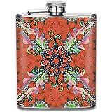 Modelo árabe personalizado de la mandala en la botella de vino rosada del acero inoxidable, regalo personalizado del frasco