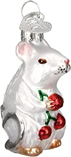 Old World Christmas Ornaments: Mouse Glass Blown Ornaments for Christmas Tree