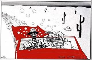 Ralph Steadman Fear & Loathing In Las Vegas Art Print Poster 36x24