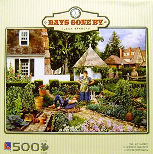 DAYS GONE BY SUSAN BRABEAU THE LAZY GARDNER 500 Piece PUZZLE by SUSAN BRABEAU