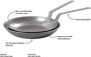 Professional Secrets Chef - Sartén Extragrande (Acero al Carbono, Resistente al Horno)