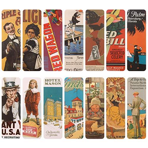 You&Lemon 28 Stücke Vintage Style Lesezeichen Set, Retro Design Papier Lesezeichen für Frauen Männer Kinder Jungen Mädchen, 35 x 115 MM (Mädchen)