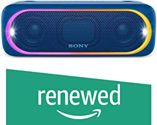 (Renewed) Sony SRS-XB30/LC-IN5 Portable Bluetooth Speakers (Blue)