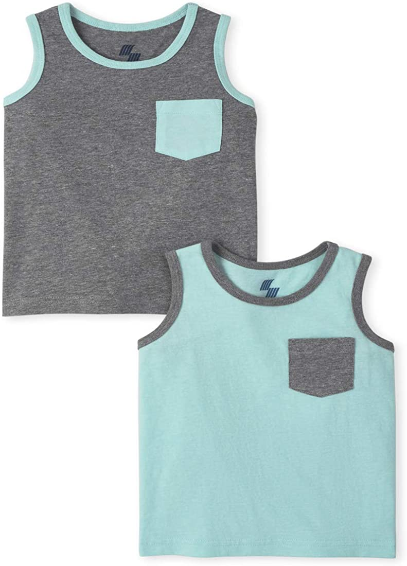 The Children's Place Baby Boys' Solid Tank Tops, Pack of Two