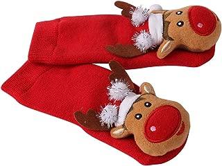 Toddler Christmas Socks, HAPYCEO Baby Boy Girl Thickened Anti-skid Xmas Gift Socks, 6-18 Months