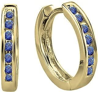 Dazzlingrock Collection 14K Small Huggie Hoop Earrings, Yellow Gold