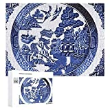 Wooden Puzzle 500 Pieces Puzzles, Jigsaw Puzzles-Blue Willow China,Educational Intellectual Decompressing Fun Game for Kids Adults Toy 20.5'x15' inch …