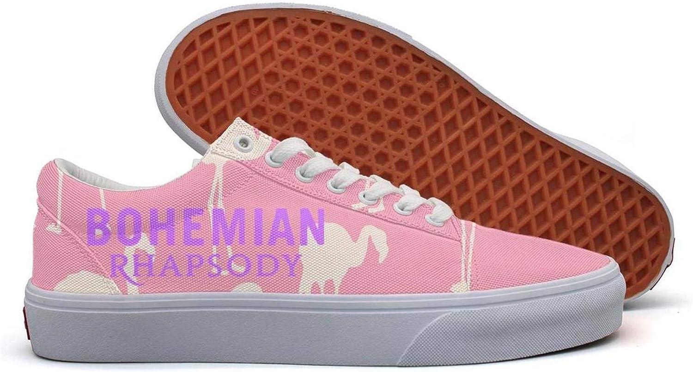 Wyhko Yhohb Women's Cool Comfortable Sneakers Bohemian-Rhapsody-Logo- Low top Casual Canvas Walking shoes Lace up