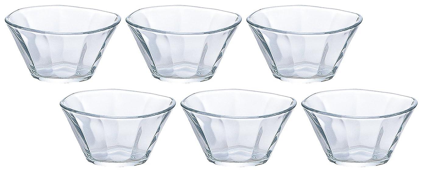 継承給料アマチュアアデリア ガラス 豆鉢 最大9.5×高5cm そぎ 豆鉢 6個セット 日本製 P-6313