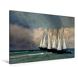 Premium - Lienzo de lienzo (120 x 80 cm, horizontal), diseño de calendario de paisaje marino, cuadro sobre bastidor, imagen sobre lienzo auténtico, impresión sobre lienzo (arte calvendo)