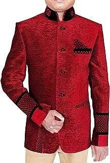 Mens Maroon 3 Pc Jodhpuri Suit Patch Work JO415