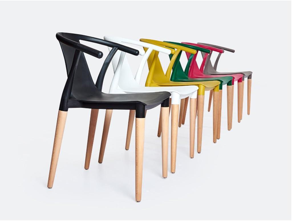 Accueil chaise à manger chaise moderne loisirs chaise créative retour fauteuil en plastique (Couleur : D) F