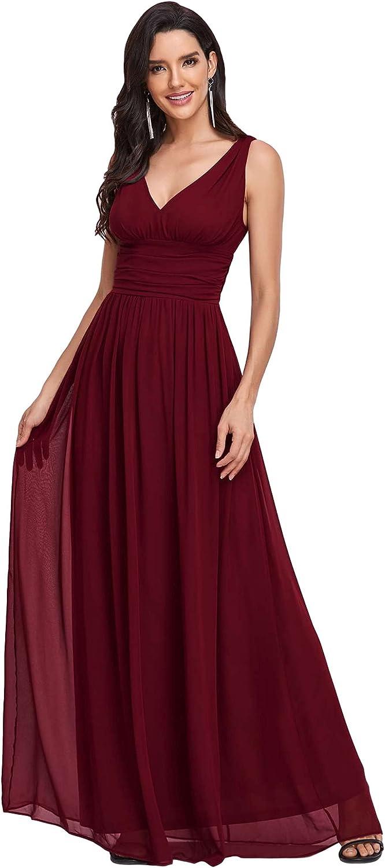 Ever-Pretty Sleeveless V-Neck Tulsa Mall Semi-Formal Dress Evening 090 online shopping Maxi