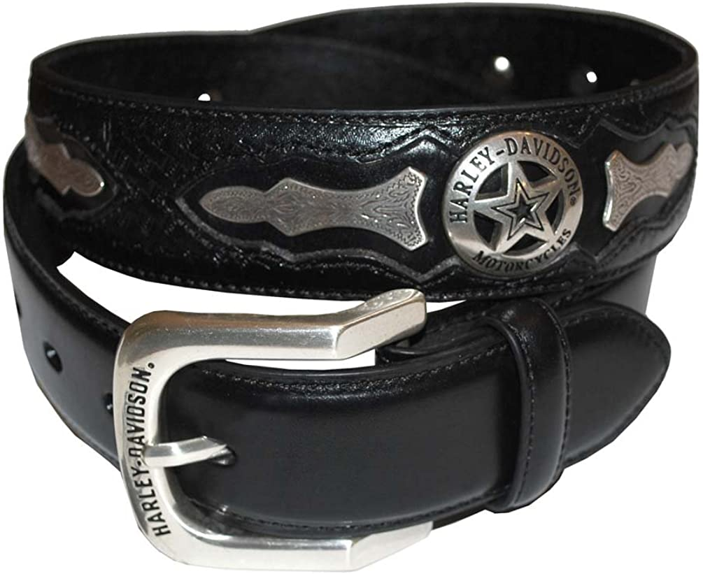 Harley-Davidson Mens Deputy Leather Belt HDMBT10006
