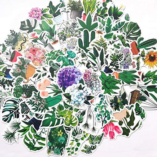 YCYY 100 Blatt/Packung Koreanisch Ins Green Oxygen Green Plant Kleine frische Salzblume Wasser Tasse Notebook Briefpapier Matt Aufkleber