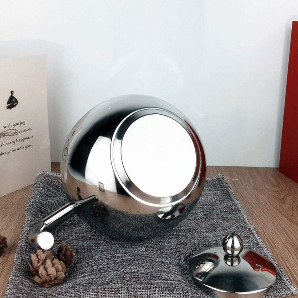 Theeketel Voor Kookplaat Roestvrij Staal, Ergonomische Handgreep, Geschikt Voor Thuiskantoor, Theekamer (Kleur: Zilver, Maat: Silver