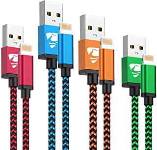 iPhone Charger Cord 4Pack iPhone Charger Cable MFi Certified Lightning Cable Fast iPhone Charging Cord Nylon Braided iPhon...