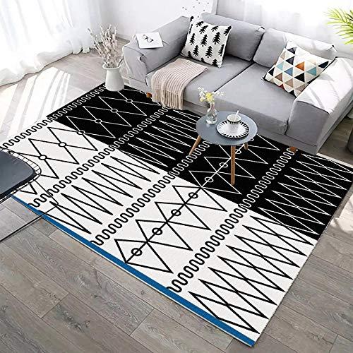 YQZS Modern Area Rug Short Pile Half gebroken wit ruit salontafel slaapkamer tapijt huis grote tapijt mat 200X300(79X119inch)