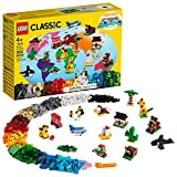 LEGO Classic Around The World 11015 Building Kit; 15 Kids' Building Toys for Creative Play; Iconic Animal Toys; New 2021 (950 Pieces)