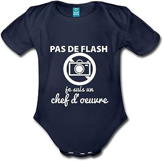 b0777259eea84 Spreadshirt Pas De Flash Chef D Œuvre Body Bébé Bio Manches Courtes