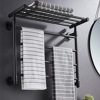 HYY-YY. Montaż na ścianie 4-barowy ocieplacz na ręczniki stop aluminium Electric Plug-in na stałe okablowany ocieplacz na ...