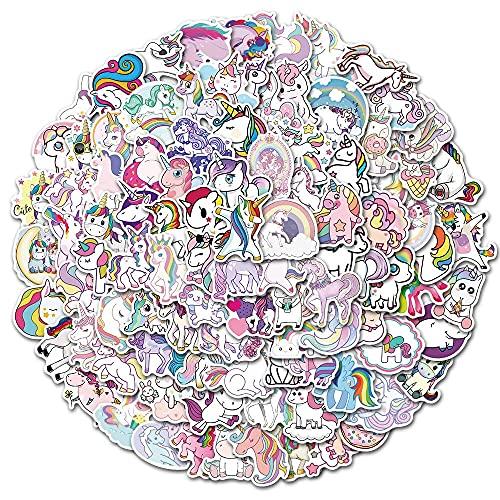 50 Adesivi unicorno Adesivi per bambini per bambini Adesivi in vinile per Bottiglie d'Acqua, Bagagli, Skateboard, Auto, Moto, Biciclette, Valigia