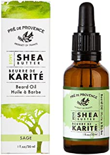 Pre de Provence Shea Butter Enriched Beard Oil For Soft, Shiny, Smooth Results (1 fl oz) - Sage
