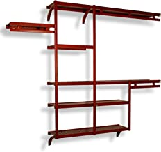 John Louis Home JLH-523 DIY Solid Wood Closet System, Standard, Red Mahogany