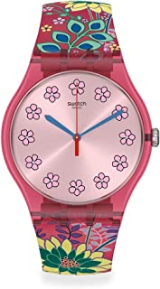 Lovely Garden Swiss Quartz Silicone Strap, Pink, 20 Casual Watch (Model: SUOP112)