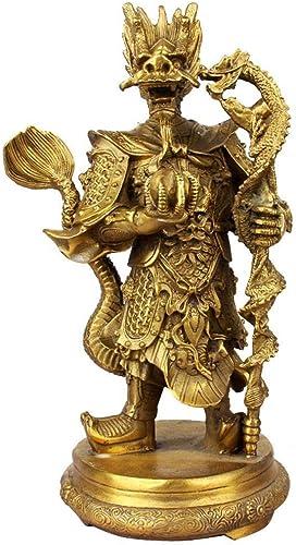 Qpw Dekofigur Drachenk g, Kupferfarben, 21  43cm 6.2kg