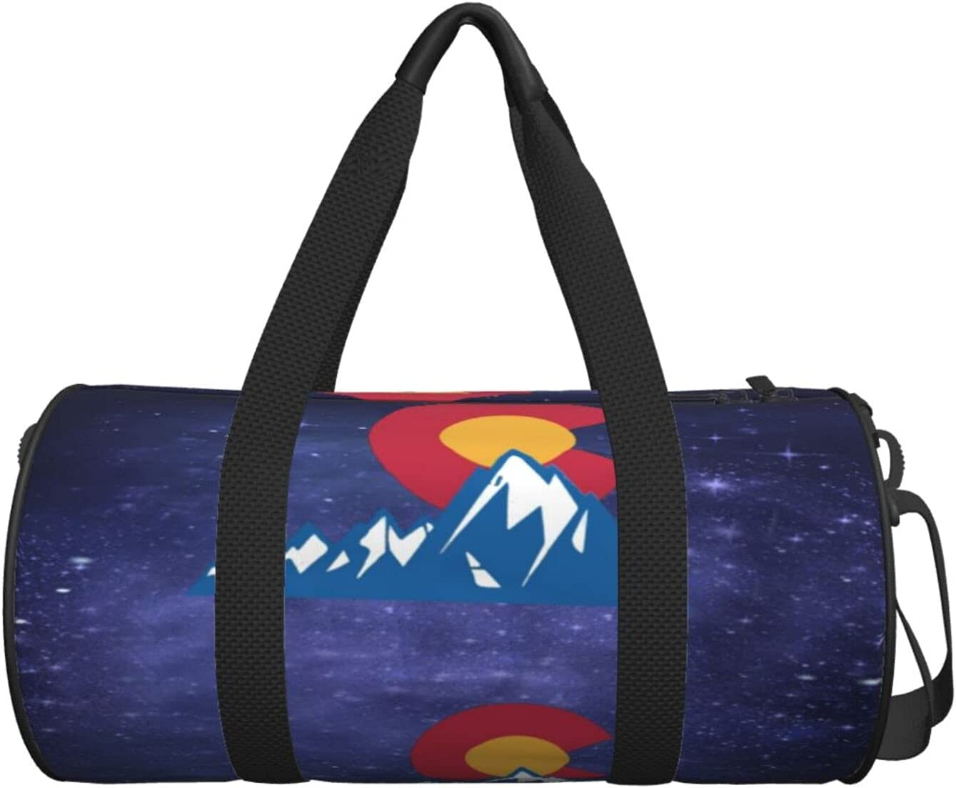 Sports Duffel Bags Galaxy Colorado State Mountains Flag Bag Max 86% OFF Gym 2021 model
